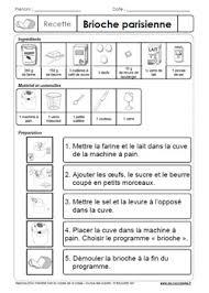exercice recette de cuisine recettes en classe exercices de lecture gs cp ce1 ce2 ulis à