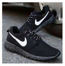 rosh run nike roshe run black and white model aviation