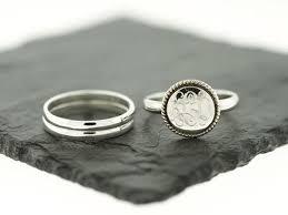 monogram ring silver deco stacking monogram ring monograms deco and ring
