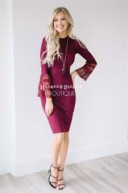 sweater dress and burgundy lace sleeve sweater dress modest church dress