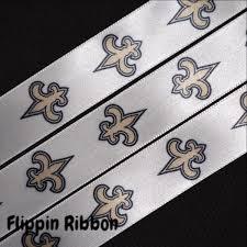 saints ribbon new orleans saints ribbon 7 8 inch printed satin ribbon