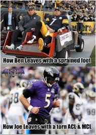 Roethlisberger Memes - joe vs ben the real test of tough rsr