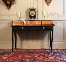 bureau à gradin bureau à gradin bois noirci et bronze fin régence xviiie