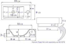sink floor plan alfi brand ab108 small modern rectangular wall mounted bathroom sink