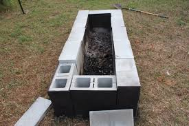 Building Outdoor Fireplace With Cinder Blocks by Cinder Block Fire Pit For Outdoor Design And Ideas