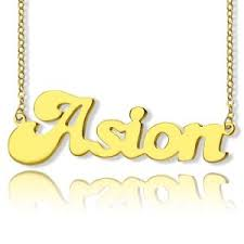 Customized Name Necklaces Custom Soild Gold Name Necklace Customized Personalized Name