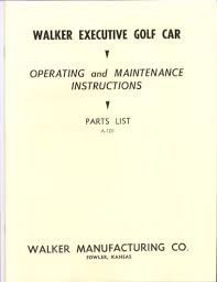 manuals u0026 publications vintage golf cart parts inc