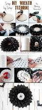 black feather wreath halloween diy halloween wreath page 2 of 2 blooming homestead