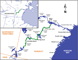 map of kazan map canadian heritage rivers system canada s national river