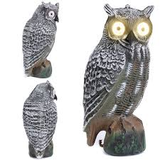 solar owl ornamental decoy lawn garden decor