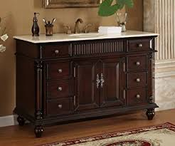 large bathroom vanity single sink 53 wood solid large single sink brockton bathroom vanity model