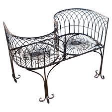 White Metal Outdoor Bench Design Toscano Tete A Tete Kissing Metal Garden Bench U0026 Reviews