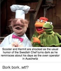 Swedish Chef Meme - scooter and kermit are shocked as the usual humor of the swedish