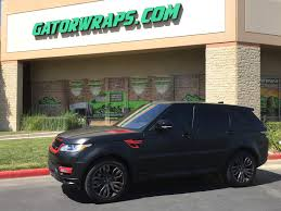 neon orange range rover orange county truck wraps gatorwraps