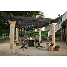 14x14 Outdoor Gazebo by Amazon Com Outdoor Greatroom Tuscany Ii Pergola With Wood Beams