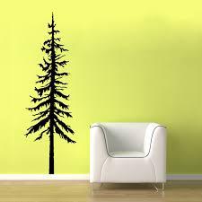 pine tree decal vinyl wall graphic pine tree decal pine zoom