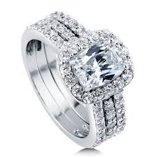 swarovski wedding rings images Stunning wedding rings swarovski crystal wedding ring sets jpg