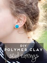polymer clay stud earrings more like home polymer clay stud earring tutorial