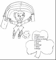 excellent st patricks day coloring page with leprechaun coloring
