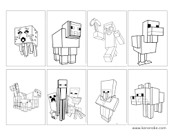 printable minecraft mobs beautiful minecraft coloring books