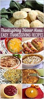 thanksgiving dinner menu 22 easy thanksgiving recipes easy