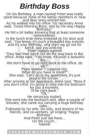 birthday story the humour