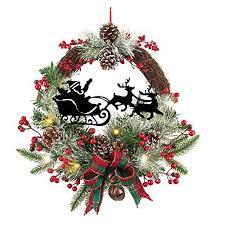 lighted wreaths