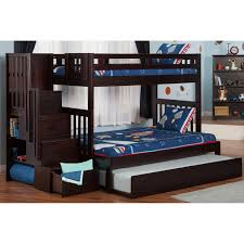 Bunk Bed With Desk And Trundle Atlantic Furniture Cascade Staircase Bunk Bed