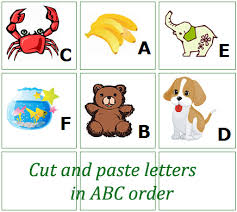 pictures on cut and paste phonics worksheets free wedding ideas