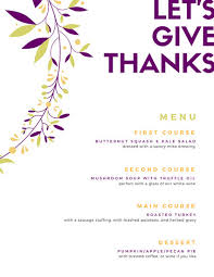white minimal thanksgiving menu templates by canva