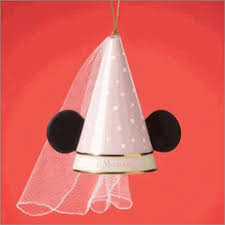 lenox minnie mouse princess ears wedding ornament new disney 24k