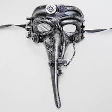 plague doctor masquerade mask steunk plague doctor theater masquerade mask for men silver
