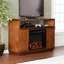 Media Electric Fireplace Brentford Media Electric Fireplace Dark Tobacco