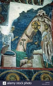 jesus christ u0026 the good samaritan byzantine fresco 1176 80 stock