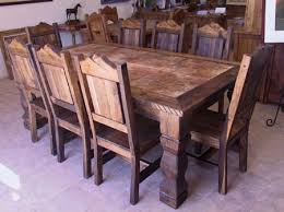 Western Style Dining Room Sets Cozy Dining Room Color To Western Rustic Dining Table The