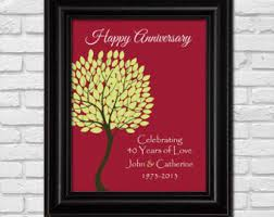 40th anniversary color 65th wedding anniversary gift for parents 65 years wedding