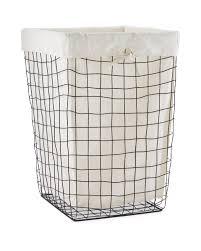 easy home wire laundry basket aldi uk
