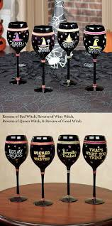 witch wine glass set of serves up your favorite witch s brew with a little attitude one each carrie miranda charlotte samantha