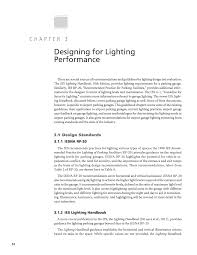 ies lighting handbook recommended light levels chapter 3 designing for lighting performance airport parking
