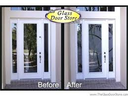 Frosted Glass Exterior Doors Glass Exterior Front Doors Best Glass Front Door Ideas On Black