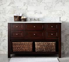 pottery barn bathroom ideas single wide sink console espresso finish pottery barn