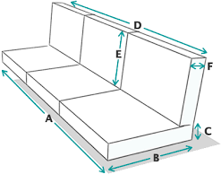 sofa depth standard sofa dimensions couch for sale throughout with deep seat