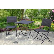 Patio Bistro Sets On Sale by Mainstays Haynes 3 Piece Folding Bistro Set Walmart Com