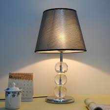 Small Table Lamp With Crystals Bedroom Table Lamps Designer Olive Brown Art Glass Lamp Modern