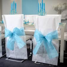 housse chaise mariage housses de chaise blanches noeud noir mariage à petit prix