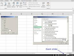 zoom in excel changing worksheet magnification