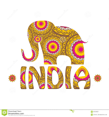 vector color decorated indian elephant stock illustration image