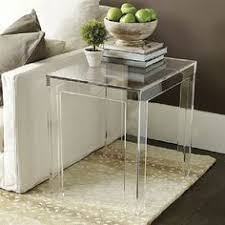 Square Acrylic Coffee Table Great Table To Add Airy Feel And Space Felicity Acrylic Coffee