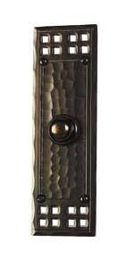 Interior Doorbell Cover Arts And Crafts Style Hand Crafted Copper Interior Door Hardware