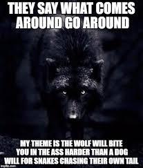Wolf Meme - black wolf imgflip